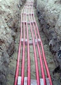 прокладка силовых кабелей. Ангарские электрики.