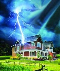 Молниезащита зданий, молниеприемник г.Ангарск
