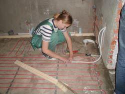 Монтаж электрического теплого пола в Ангарске. электрический теплый пол