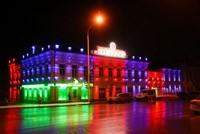 Наружное освещение: архитектурное освещение зданий, фасадов дома в Ангарске